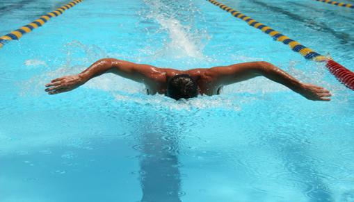manSwimming